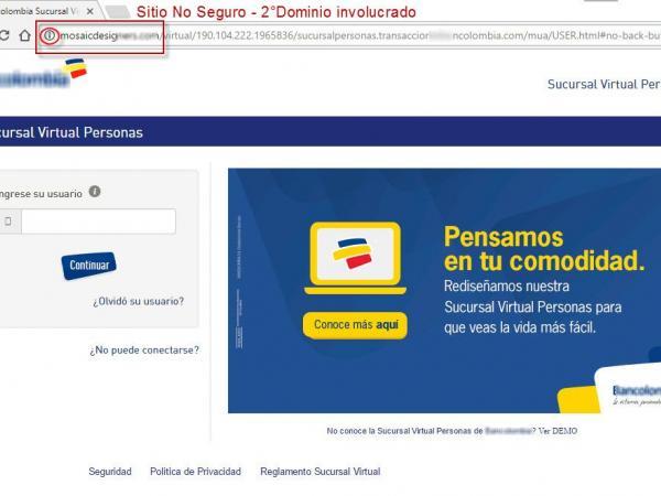 nombre e imagen de bancolombia est n siendo usados por