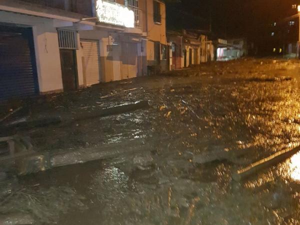 Autoridades del Municipio de Corinto,Cauca, informan sobre desbordamiento del río La Paila