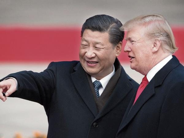 El presidente de China, Xi Jinping, y el de Estados Unidos, Donald Trump