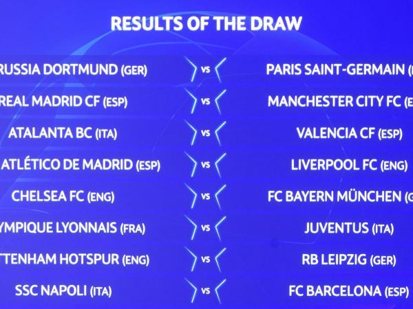 Los super partidos para los octavos de final de la Liga de Campeones