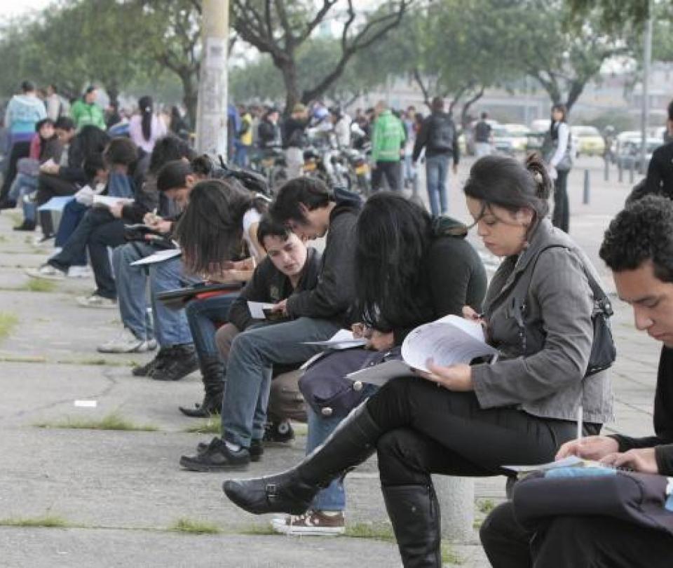 Jornada de contratación en Bogotá - Noticias de Colombia
