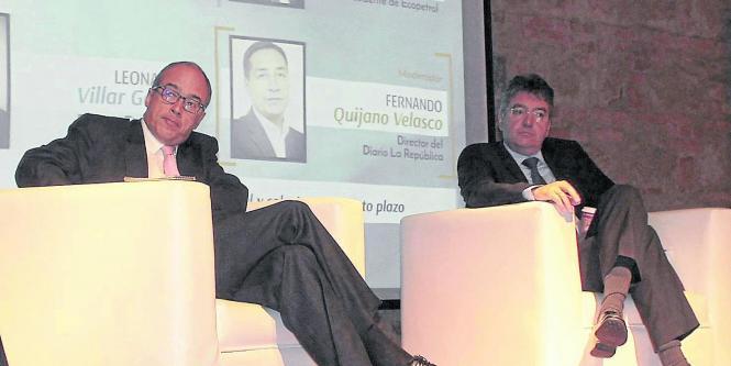 Juan Carlos Echeverry, presidente de Ecopetrol y Mauricio Cárdenas, ministro de Hacienda.