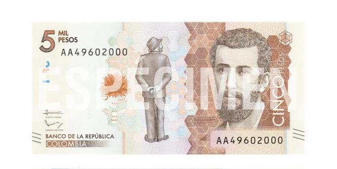 Billete de 5 mil pesos