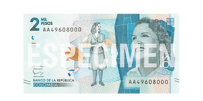 Billete de 2 mil pesos