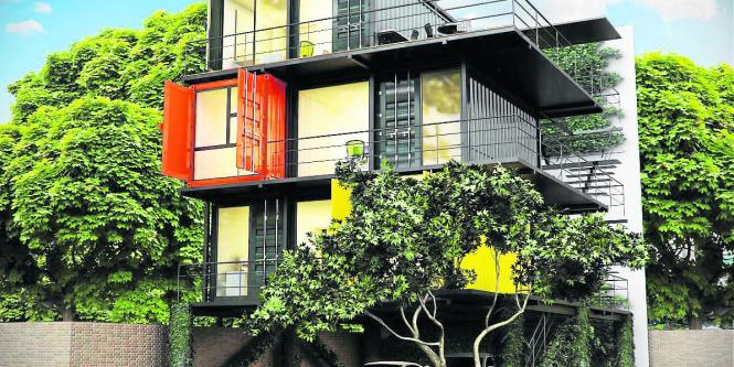 Bogot tendr edificio de oficinas de contenedores for Contenedores de oficina