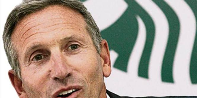 Howard Schultz, presidente de Starbucks