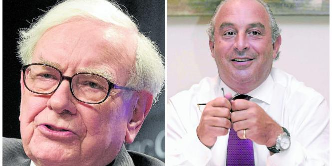 Warren Buffett y Sir Philip Green.