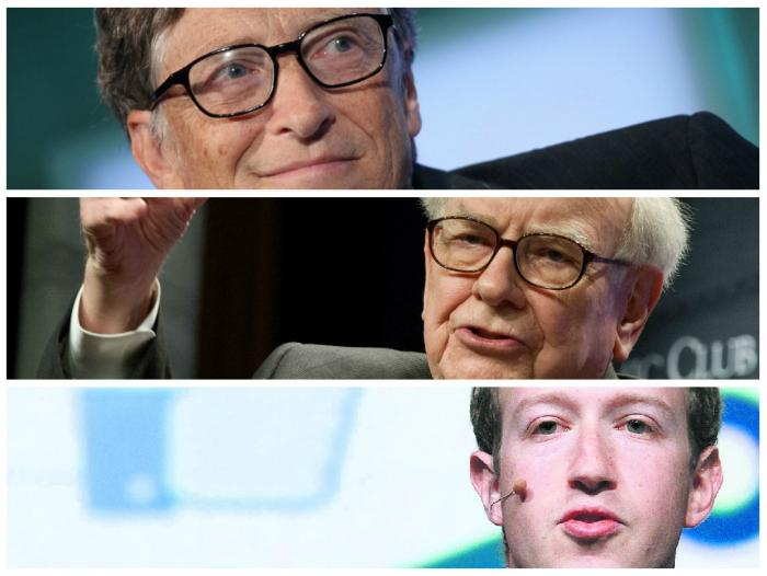 Bill Gates, Warren Buffett y Mark Zuckenberg son parte de ese 1% más próspero.
