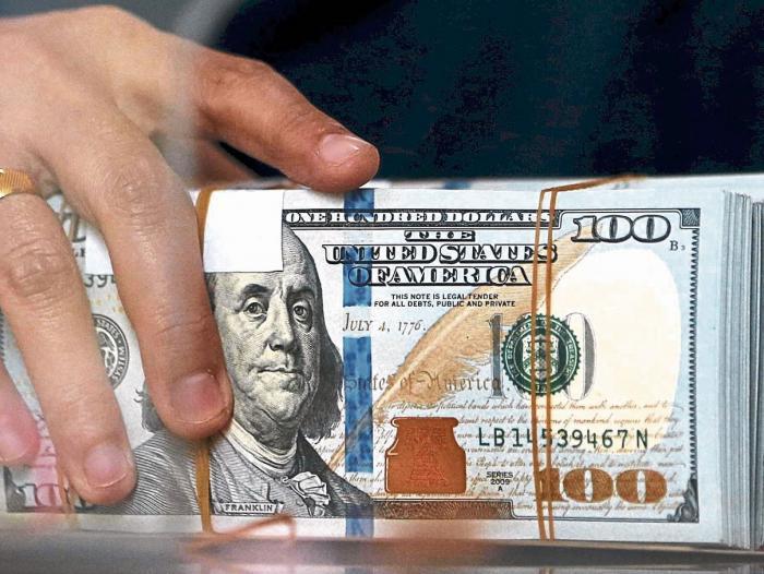 Dólar cerró este jueves por debajo de los $2.800 por primera vez desde 2015