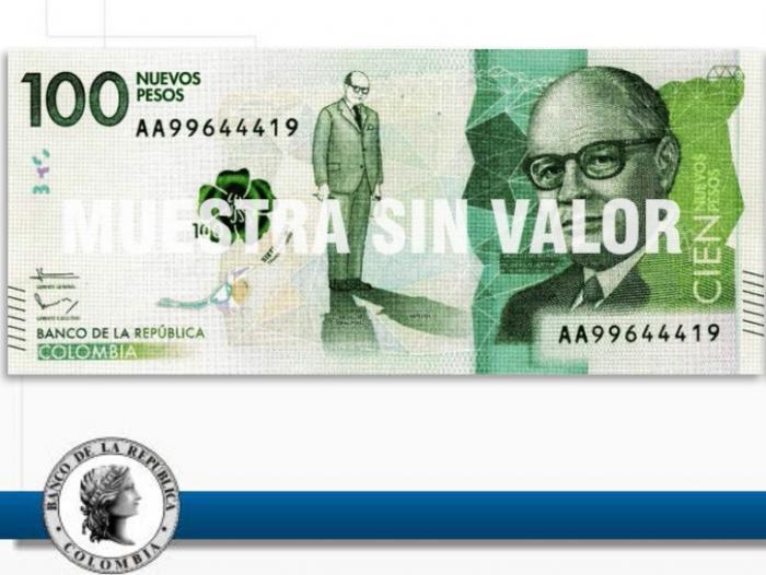 Anverso Billete De 100 Mil Pesos