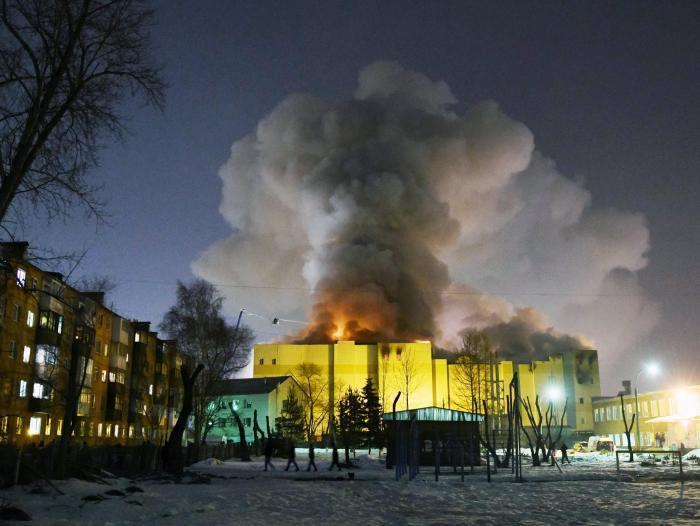 Resultado de imagen para incendio en centro comercial de rusia con 64 muertos