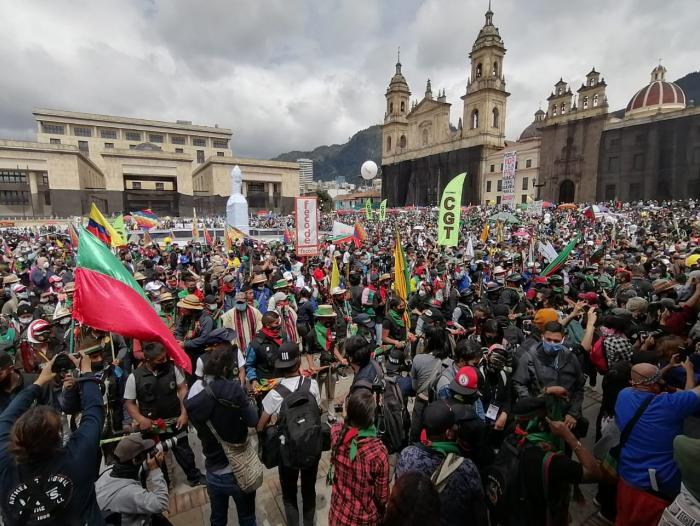 Jornada de protestas, marchas,movilizaciones del paro nacional 21 de  octubre 2020 en Bogotá | Economía | Portafolio