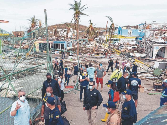 San Andrés y Providencia: nició plan de 100 días para reconstruir el  archipiélago tras huracán Iota | Economía | Portafolio