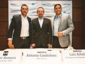 Héctor Romero, gerente de Blein; Antonio Couttolenc, CEO de Xertica, y Luis Arbulú, de Xertica.